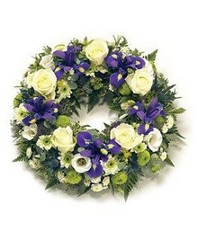 Purple & White Wreath.